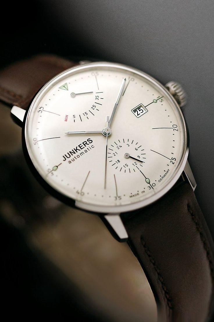 Junkers Herren-Armbanduhr XL Bauhaus Analog Automatik Leder 60605: Amazon.de: Uhren