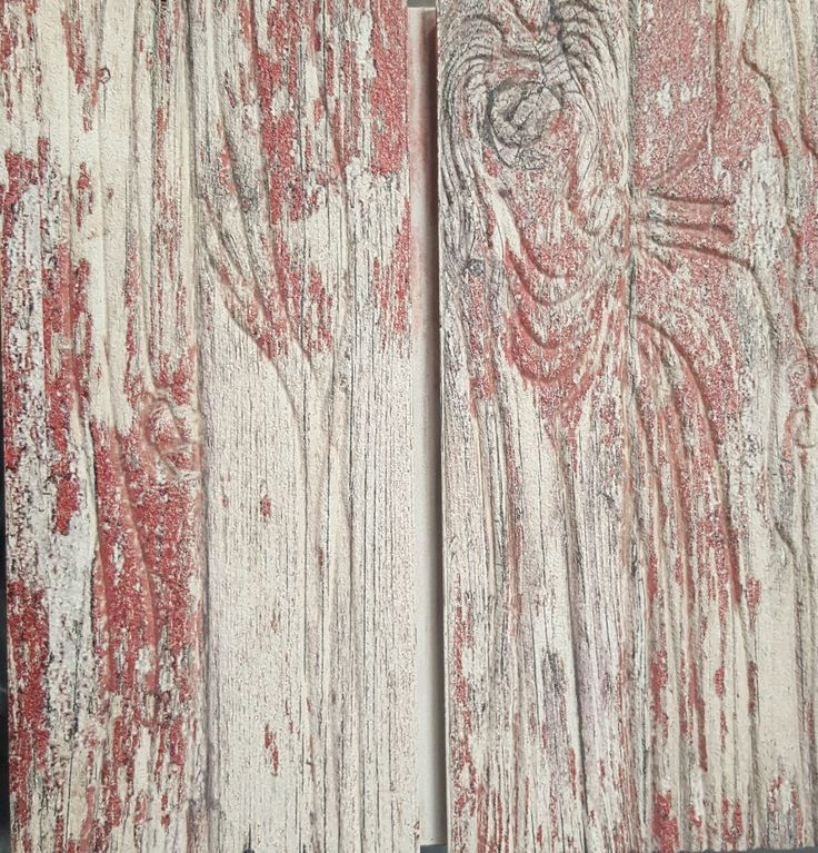 old red paint dimensional slatwall