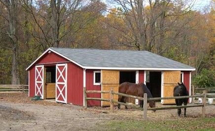 small  center aisle horse barns | Equine Barns: Listed in Horse Barn Construction Contractors in Cross ...