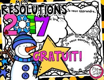 New Year's Resolutions  Mes rsolutions  Perfect for the first day back after winter break!  Stimulates classroom discussion!  This poster provides support for reluctant writers but could also be used as a springboard and/or organizer for a longer writing exercise as part of a writer's workshop or for centers.You may also like; BONNE ANNE!