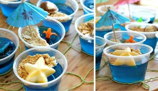 Blue jello.