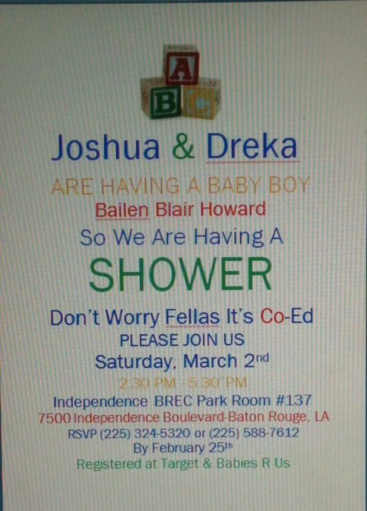 Vintage Block Baby Shower Invites #AgapeAffairs #BBH #BabyBoy