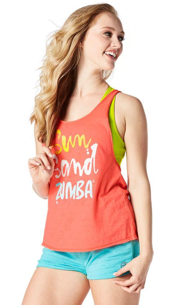 Sun Sand Zumba Tank | Zumba Fitness Shop