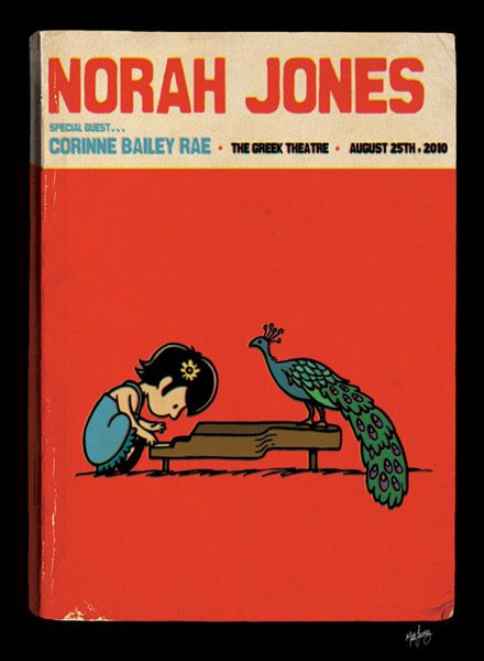 Norah Jones lithograph by Matt Leunig
