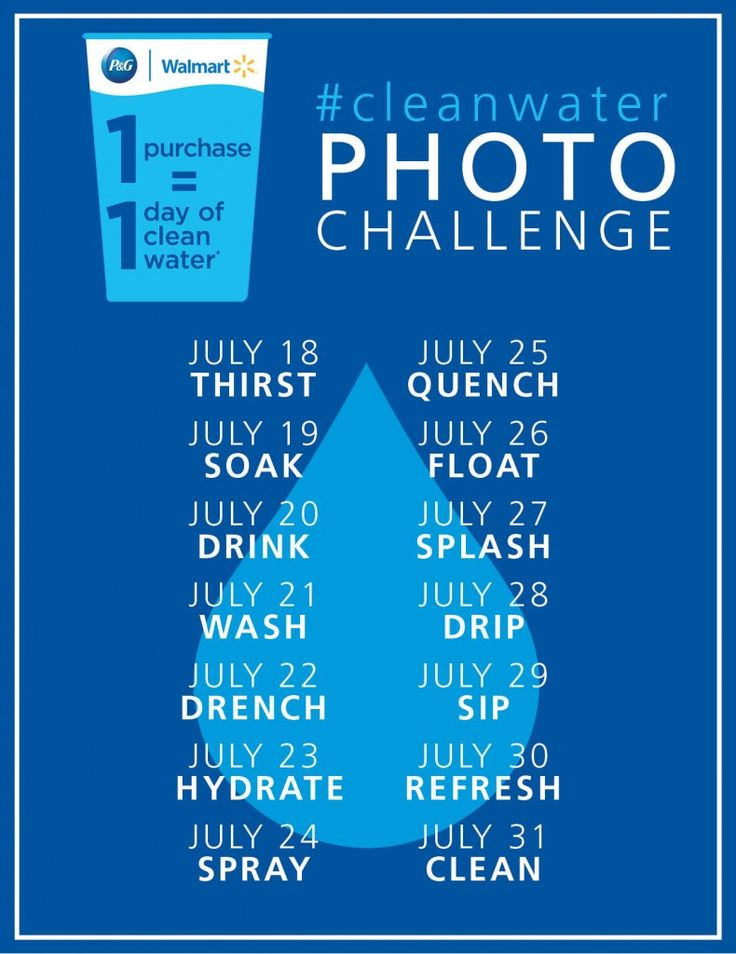Join me in the #cleanwater PHOTO CHALLENGE for a chance to win - Tales of a Ranting Ginger