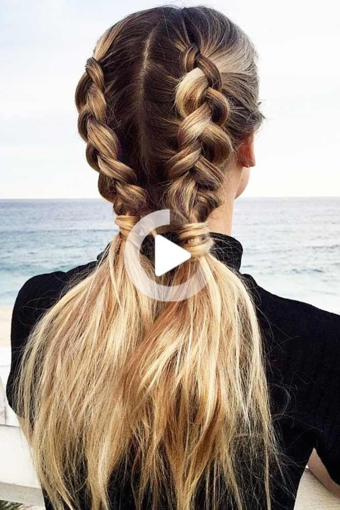 Our Ideas Of Summer Hairstyles Will Save You From Hot Weather Humidity And Frizz We Have Styling Opti Pigtail Hairstyles Medium Hair Styles Long Hair St In 2020 Braided Hairstyles