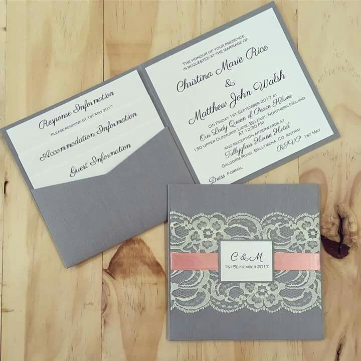 irish wedding invitations templates%0A Square vintage lace invitation by Simply Stunning Stationery