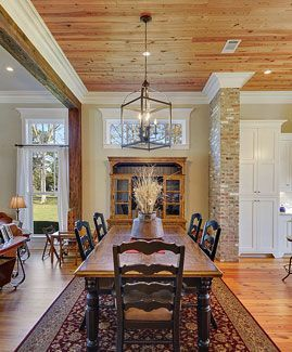 Farmhouse Home Plan Chandler HouseBeautiful Dining RoomsUrban