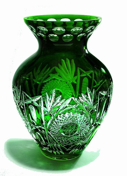 "Crystal Gifts, Stemware, Vases, Rare Colors, European Quality!: Limited Production! Amphora 10.4"" Vase Emerald Green! Gorgeous Gem! - Reg $559 - IN STOCK"