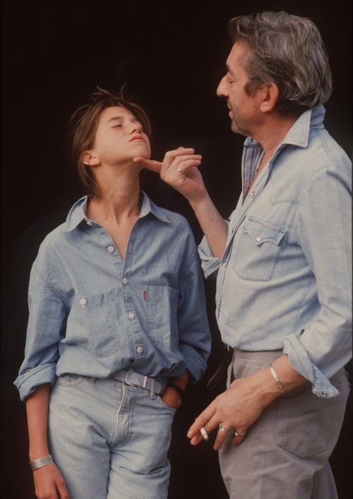 Charlotte Gainsbourg with her dad Serge.