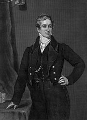 The Right Honourable Sir Robert Peel, Bt FRS MP for Tamworth (1788–1850). PM 1834-5 - Minority government. Unable to form a majority in Parliament so resigned. Second term 1841-6 - Mines Act 1842; reintroduction of income tax; Factory Act 1844; Railway Regulation Act 1844; repeal of the Corn Laws (triggered by the Great Irish Potato Famine) and other tariffs;