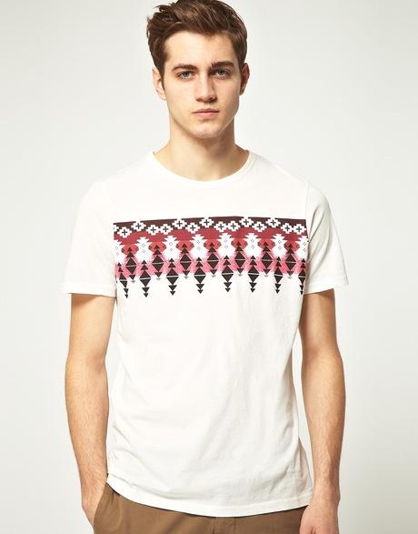 River Island Aztec Print Tshirt