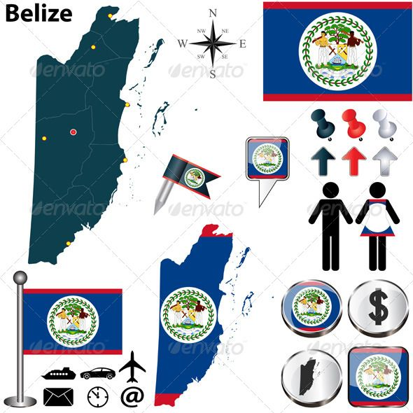 Map of Belize #GraphicRiver Vector of Belize set with detailed country shape with region borders, flags and icons. Package contains: EPS (10 version), JPG (5000×5000 pixels, RGB) Created: 10November13 GraphicsFilesIncluded: VectorEPS Layered: No MinimumAdobeCSVersion: CS Tags: administrative #atlas #belize #belizean #belmopan #borders #boundary #button #centralamerica #country #divisions #dollar #flag #icon #land #map #national #official #regions #republic #shape #sign #silhouette #symbol…