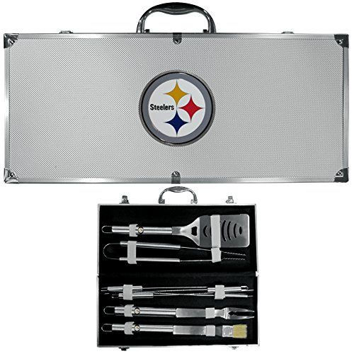 NFL Pittsburgh Steelers 8-Piece Barbecue Set w/Case