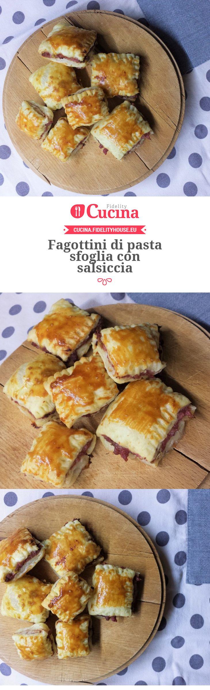 Fagottini di pasta sfoglia con salsiccia della nostra utente Giada. Unisciti alla nostra Community ed invia le tue ricette!