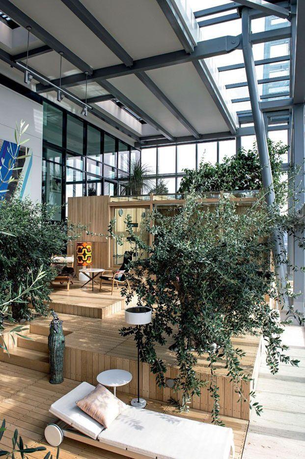 Ian simpson´s home / indoors garden on top of a skycraper