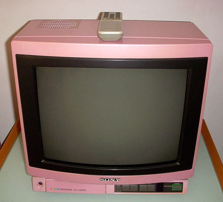 "14"" Sony KV-1397R Hot Pink Trinitron Color TV Television ..."