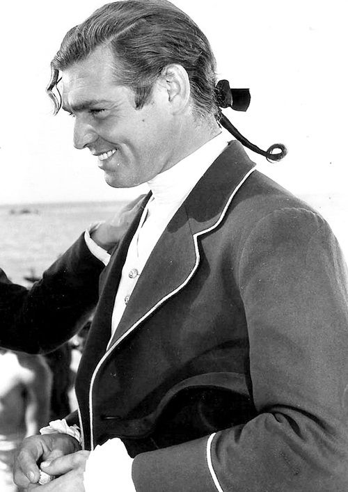 "Clark Gable in a ""Mutiny on the Bounty"" promo shot, 1935"