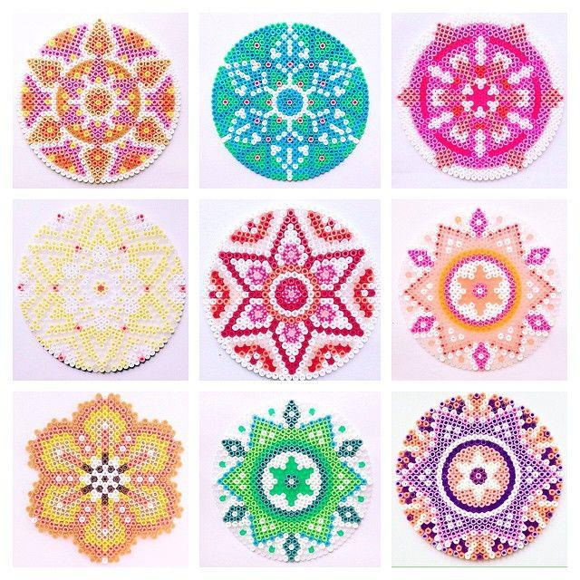 Bügelperlen Mandala kunterbung