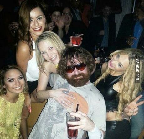 So this guy makes $250.000 a year just by imitating Alan from 'The Hangover' at partys. This guy is going places.