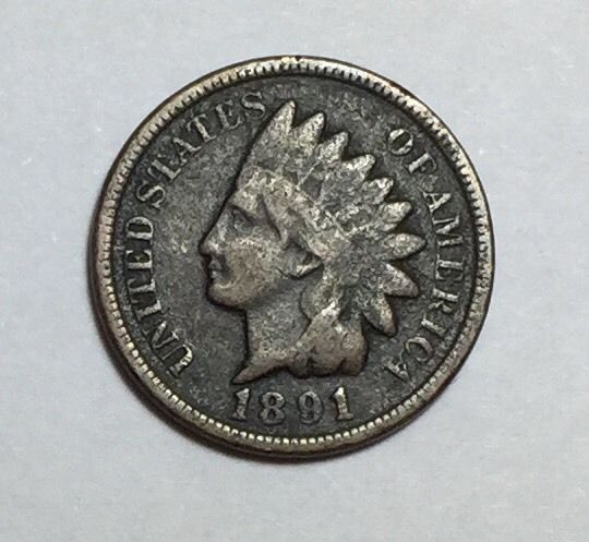 1891 Indian Head Penny w/ Partial LIBERTY.  *SEMI-KEY DATE*  Take a LOOK!