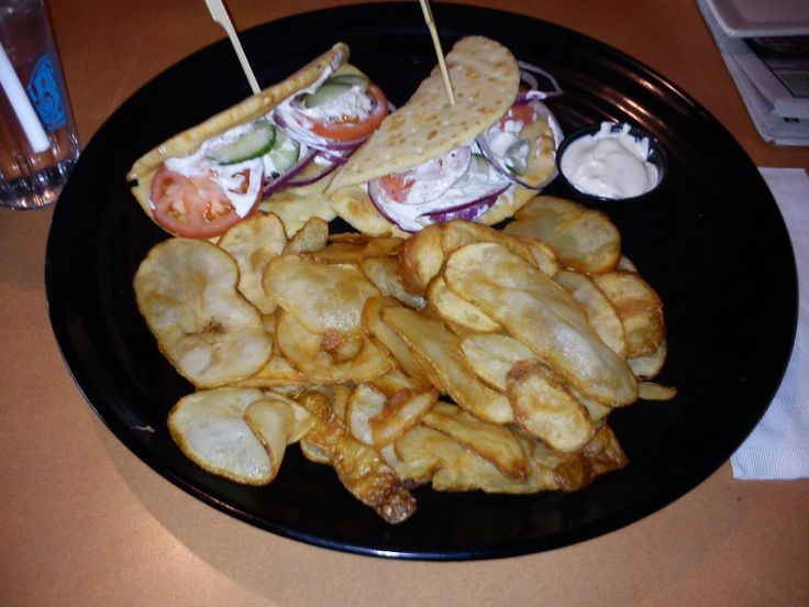 Greek Platter (Two Beef Gyros and Cactus Cuts w/  Tzatziki sauce)