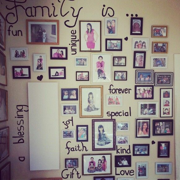 My personal family wall