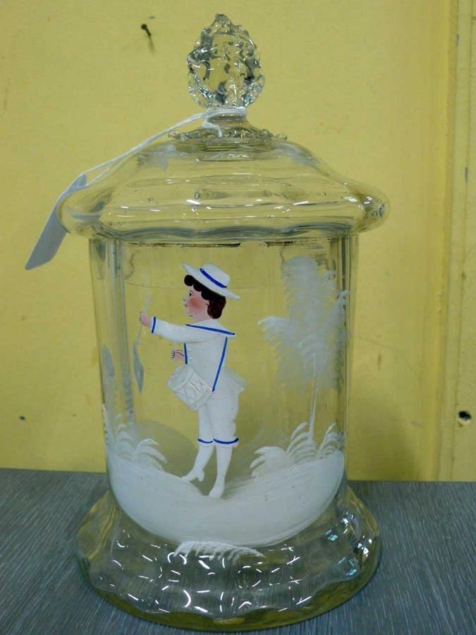 Lecheras - jarra de leche , Leche de vidrio, jarra - hecho
