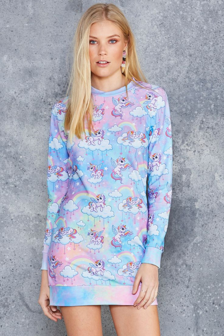 So Cute I Could Puke Sweater Dress - 7 DAY UNLIMITED ($120AUD) by BlackMilk Clothing