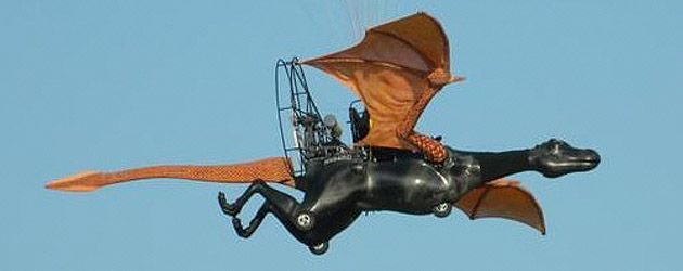 Disney flying dragon prototype