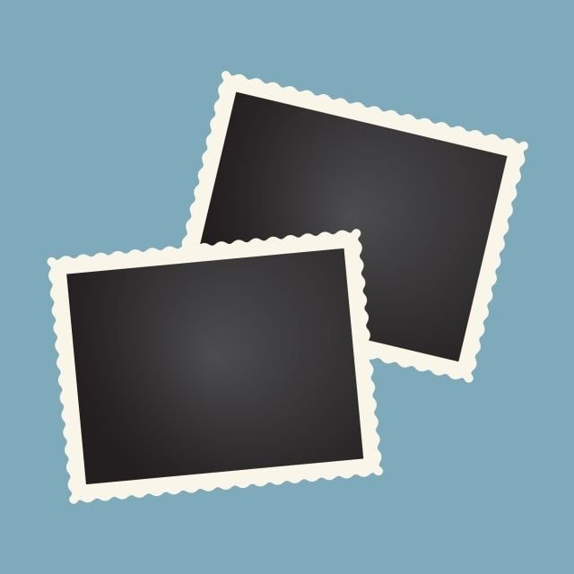 2 Rectangular Photo Frame Design Modern Illustration Banner Png