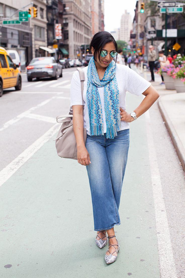 Missoni scarf silver watch gray bag