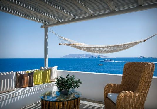 A chic and secluded sea-view suite on a little-known Greek island, including breakfast, transfers and car hire in mid season
