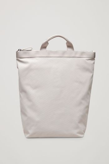 COS image 1 of Tote backpack in Ivory