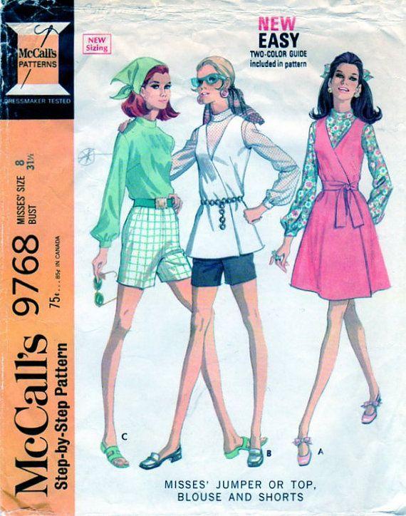 1960s Womens Sport Separates McCalls 9768 by FindCraftyPatterns