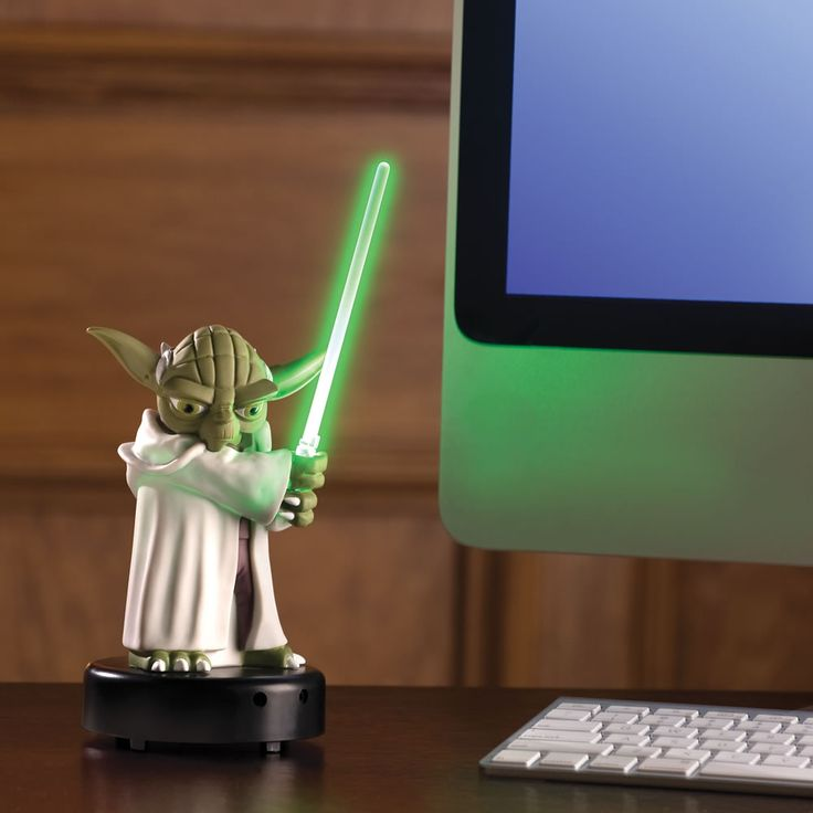 "The Motion Activated Talking Yoda Sentry - Hammacher Schlemmer - This is the motion-detecting Yoda figurine that reacts to ""disturbances in the force"" with verbal and visual responses."