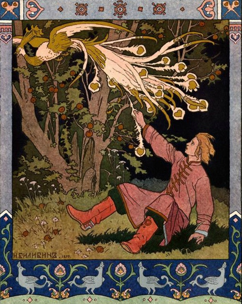 The Tale of Tsarevich Ivan, the Firebird, and Gray Wolf by Ivan Jakovlevic Bilibin, 1899