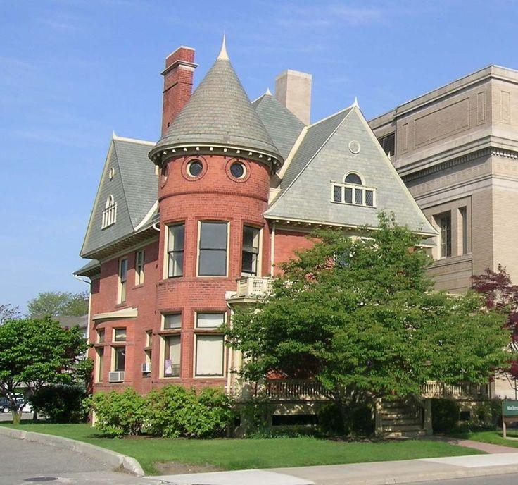 Wayne State University Buildings in Midtown Detroit, Michigan.
