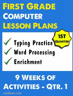 First Grade Computer Lessons Qtr. 1