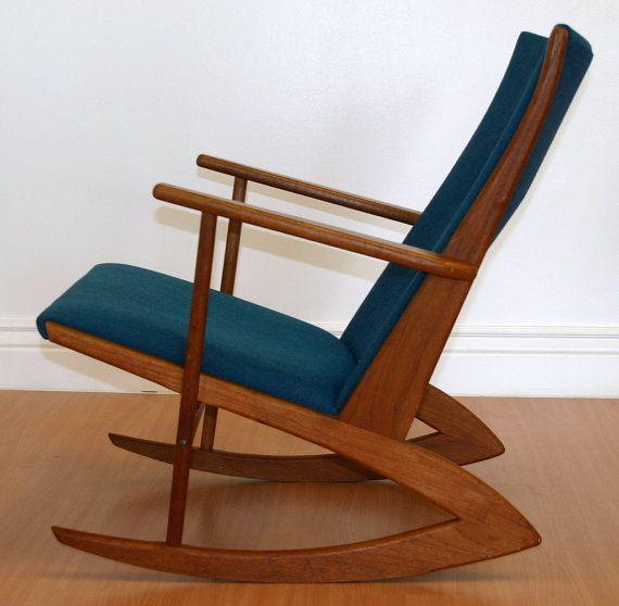 rocking chair danish modern midcentury modern wooden sofa retro chairs ...