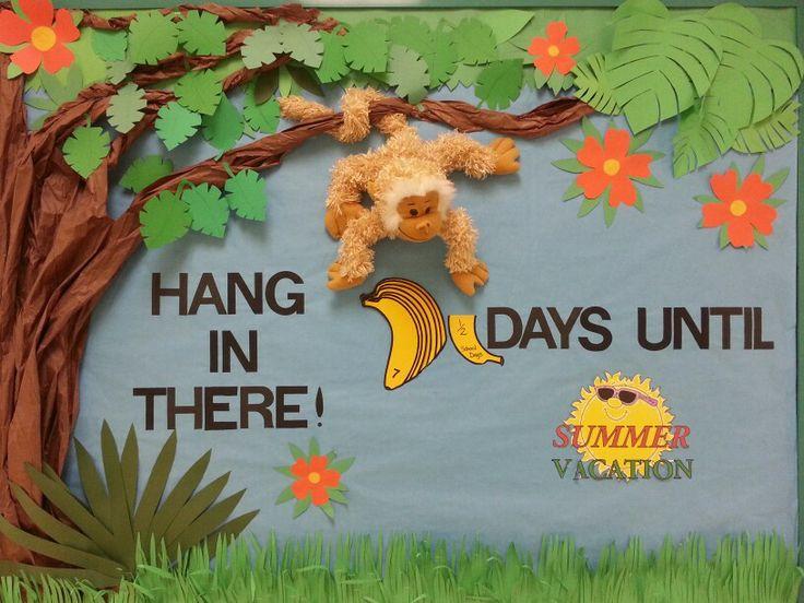 Countdown to Summer! Boulder Bluff Elementary School PTO bulletin board.