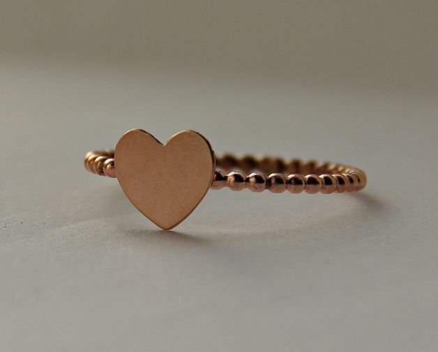 Geschenkidee für Verliebte, Herzring in Kupfer / gift idea, ring with a heart by CirclesOfLove via DaWanda.com