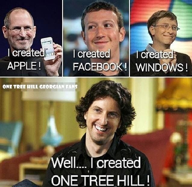 LOL, this is funny. Thank you, #MarkSchwahn. #OneTreeHill