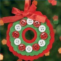 Make a Felt Wreath Ornament
