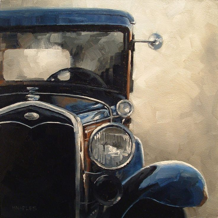 Love the work of Michael Naples, especially the old cars.  Looks like a car Dad had a long long long time ago.. :)  I was a really small child but do remember this old car.