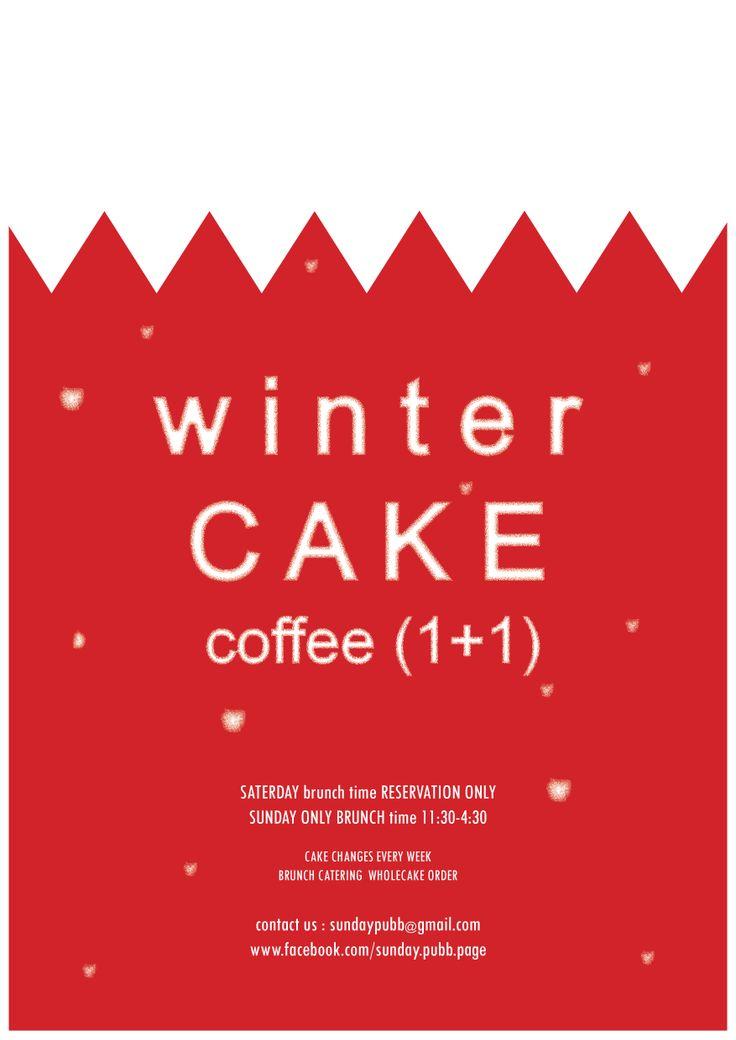 sundaypubb's winter cake event brunch poster