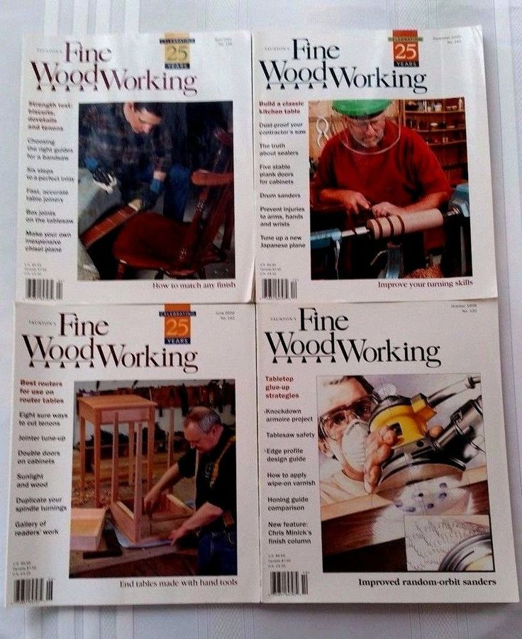 Lot of 4 Taunton's Fine Woodworking Magazine Back Issues, 1998-2001 #FineWoodworking