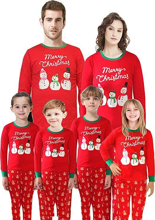 Christmas Matching Family Pajamas Santa Pajamas Boys Girls Children Cotton Sleepwear  Toddler Pants Set Size 2T 7b0891986a