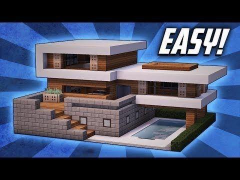 Minecraft einfaches modernes Haus-Design