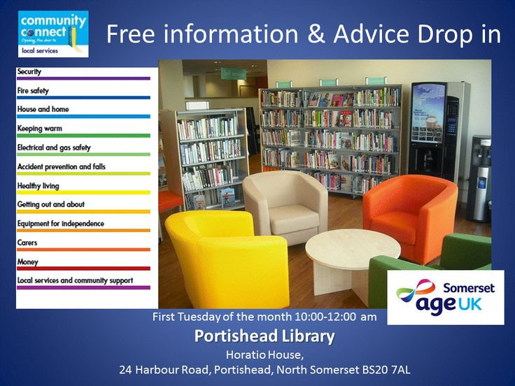 Come tomorrow to #Portishead #Library @LibrariesWest #England for a #free #Information and advice #CommunityConnect #NSomerset @Portishead_Town @PortisheadBloom @Portisheadnboom